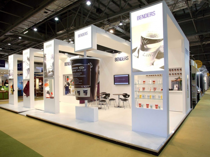 stand design for Benders  at Hotelympia exhibition  London view 1