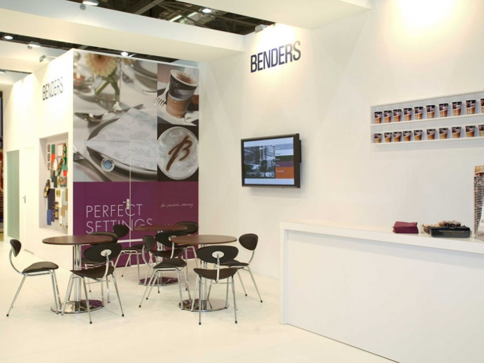 stand design for Benders  at Hotelympia exhibition  London view 2