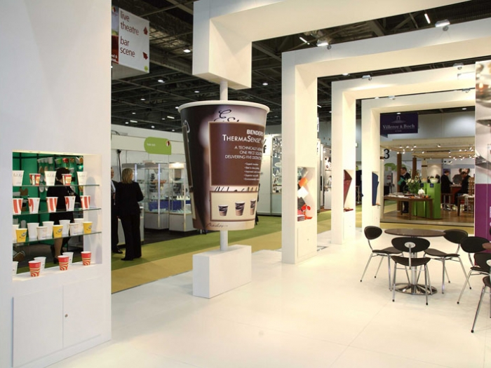 stand design for Benders  at Hotelympia exhibition  London view 3