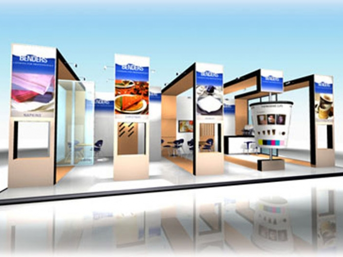 Visual of stand design for Benders  at Hotelympia exhibition  London