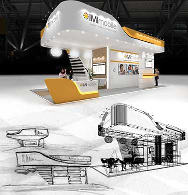 Example of exhibition stand design visuals