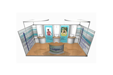 Image of Finesse Group modular exhibition stand design