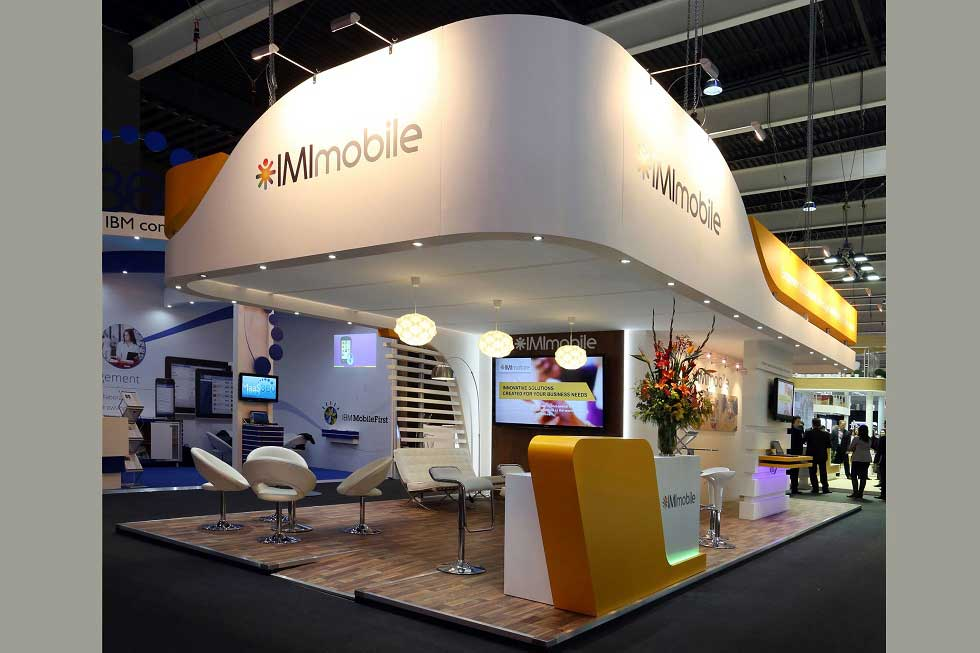 Exhibition stand design for IMI at MWC Barcelona