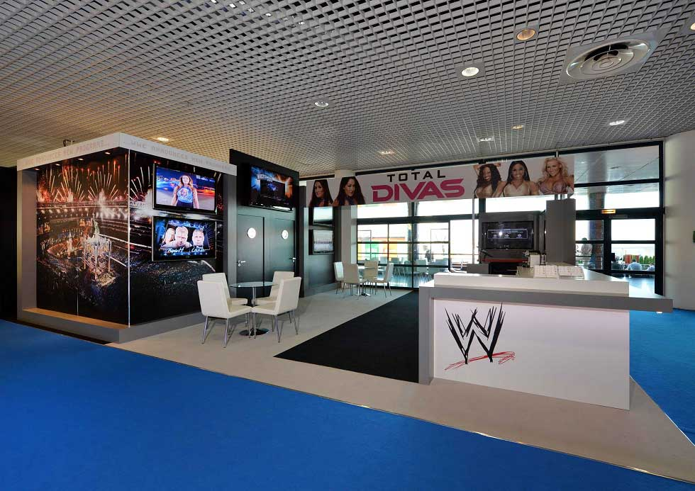 Stand design for WWE  at MIPTV  in Cannes